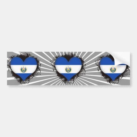 Vintage I Love El Salvador Bumper Sticker