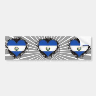 Vintage I Love El Salvador Bumper Stickers