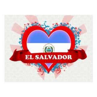 Vintage I Love El Salvador Postcard