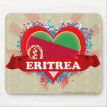 Vintage I Love Eritrea Mouse Pad