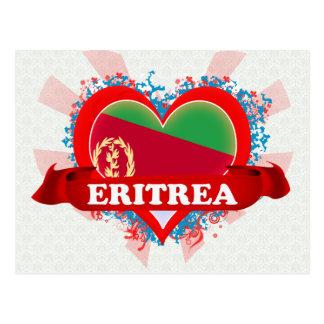 Vintage I Love Eritrea Postcard