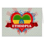 Vintage I Love Ethiopia Greeting Card