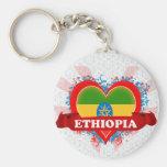 Vintage I Love Ethiopia Keychains