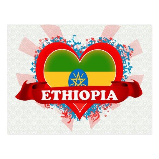 Vintage I Love Ethiopia Postcard
