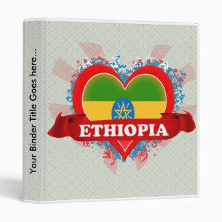 Vintage I Love Ethiopia Vinyl Binders