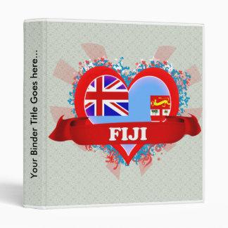 Vintage I Love Fiji 3 Ring Binder