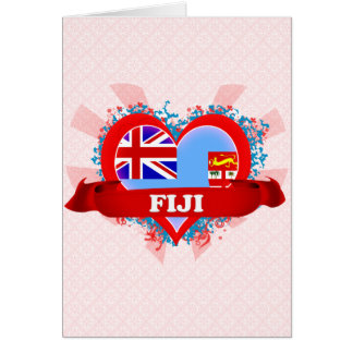 Vintage I Love Fiji Greeting Card
