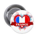 Vintage I Love France Buttons