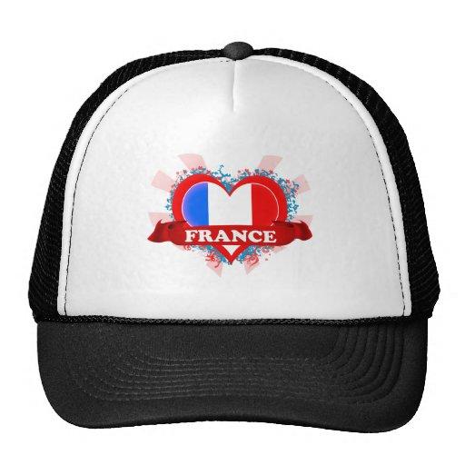 Vintage I Love France Trucker Hats