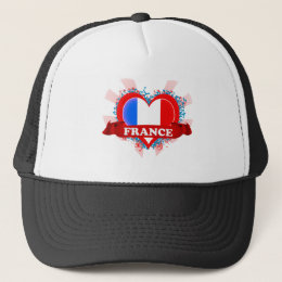 Vintage I Love France Trucker Hat