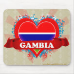 Vintage I Love Gambia Mousepad