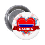Vintage I Love Gambia Pinback Button