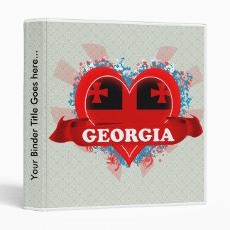 Vintage I Love Georgia Binders