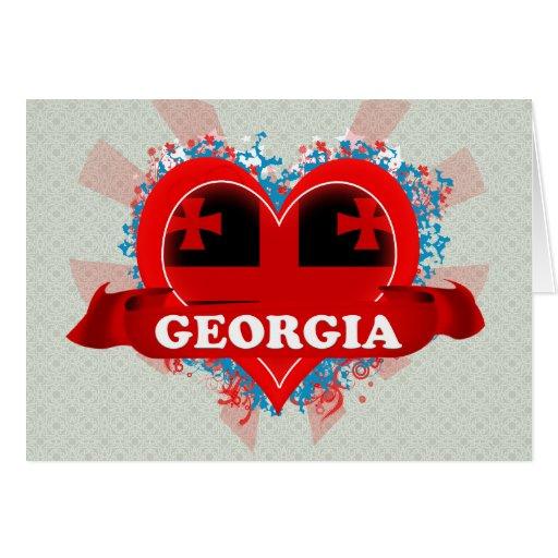 Vintage I Love Georgia Card