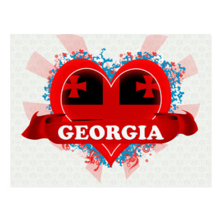 Vintage I Love Georgia Postcard