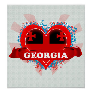 Vintage I Love Georgia Poster