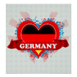 Vintage I Love Germany Print