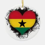Vintage I Love Ghana Christmas Ornaments