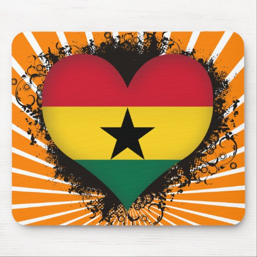 Vintage I Love Ghana Mousepads