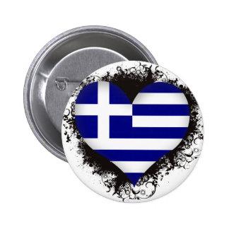 Vintage I Love Greece Pin
