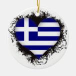 Vintage I Love Greece Christmas Ornaments
