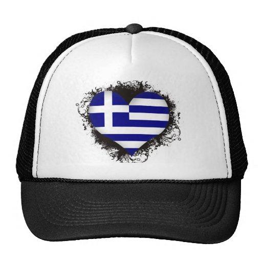 Vintage I Love Greece Trucker Hat