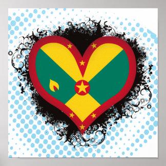 Vintage I Love Grenada Poster