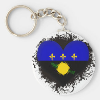 Vintage I Love Guadeloupe Keychains