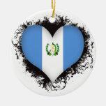 Vintage I Love Guatemala Christmas Tree Ornament