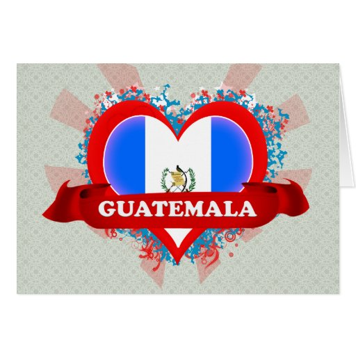 Vintage I Love Guatemala Greeting Cards