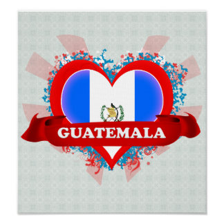Vintage I Love Guatemala Posters