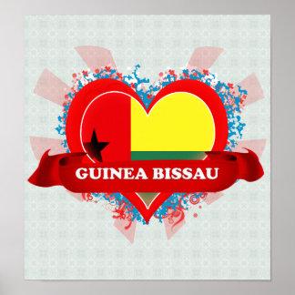 Vintage I Love Guinea Bissau Posters