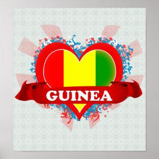 Vintage I Love Guinea Print