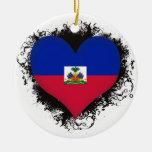 Vintage I Love Haiti Christmas Ornaments