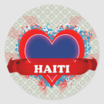 Vintage I Love Haiti Sticker