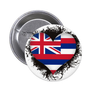 Vintage I Love Hawaii Button