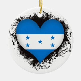 Vintage I Love Honduras Ceramic Ornament