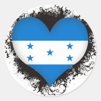 Vintage I Love Honduras Classic Round Sticker