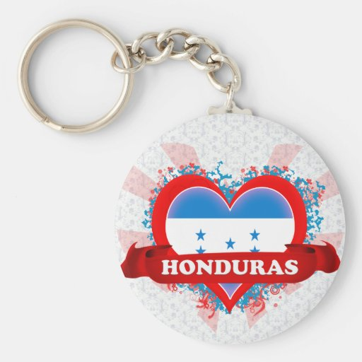 Vintage I Love Honduras Key Chain