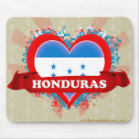 Vintage I Love Honduras Mouse Pad