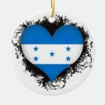 Vintage I Love Honduras Ornaments