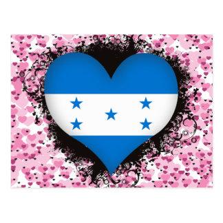 Vintage I Love Honduras Postcard