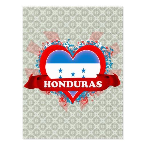 Vintage I Love Honduras Postcards