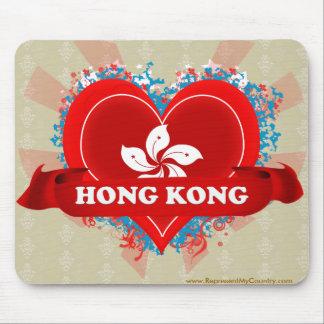 Vintage I Love Hong Kong Mouse Pad