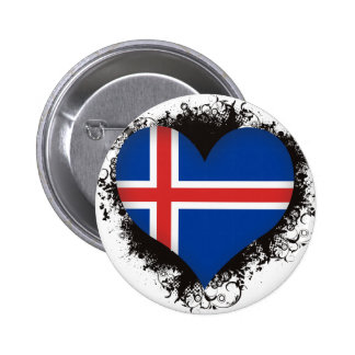 Vintage I Love Iceland Button