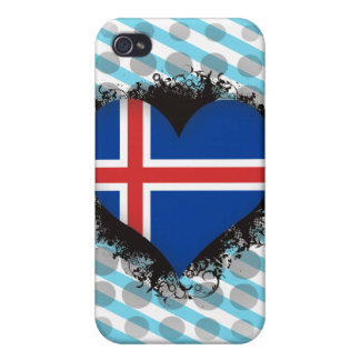 Vintage I Love Iceland Cases For iPhone 4