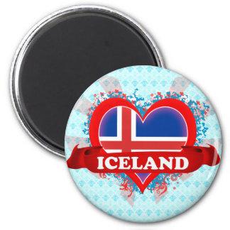 Vintage I Love Iceland Magnets