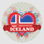 Vintage I Love Iceland Stickers
