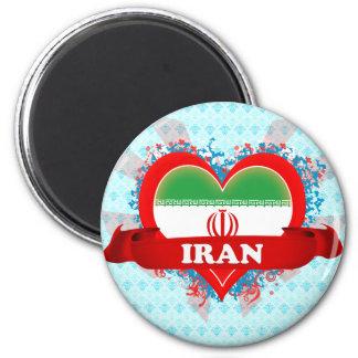 Vintage I Love Iran 2 Inch Round Magnet
