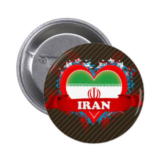 Vintage I Love Iran Button